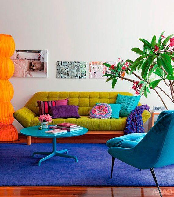 Colores llamativos en decoraci n de interiores - Colores llamativos ...