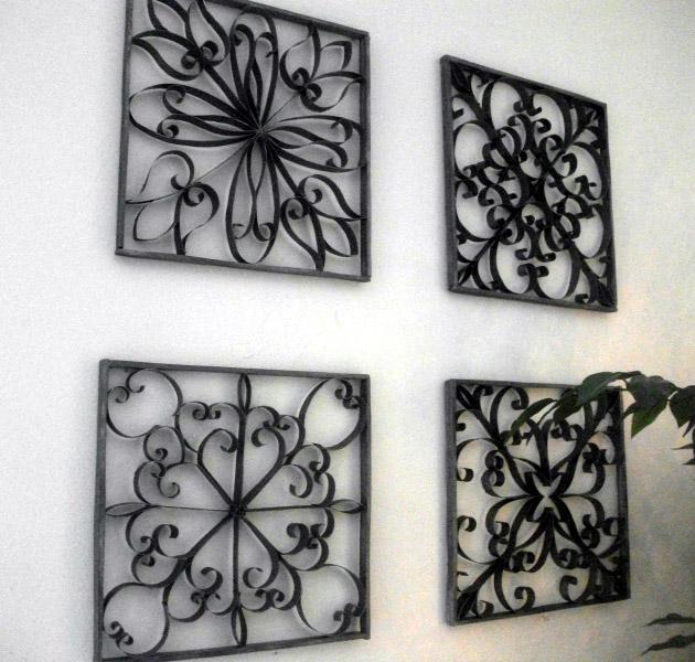 Manualidad para decorar paredes imitaci n hierro - Adornos metalicos para pared ...