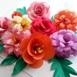 Cómo hacer flores de papel o tela