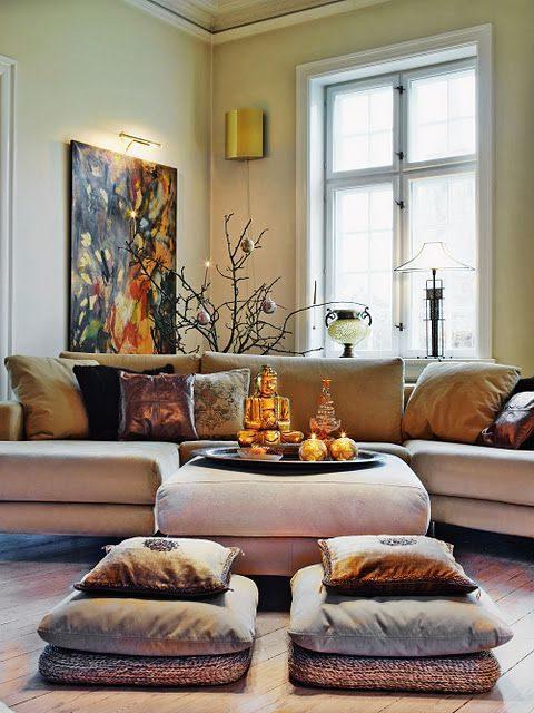 Cojines decorativos para salas sillones y suelo 50 fotos for Sillones modernos para sala