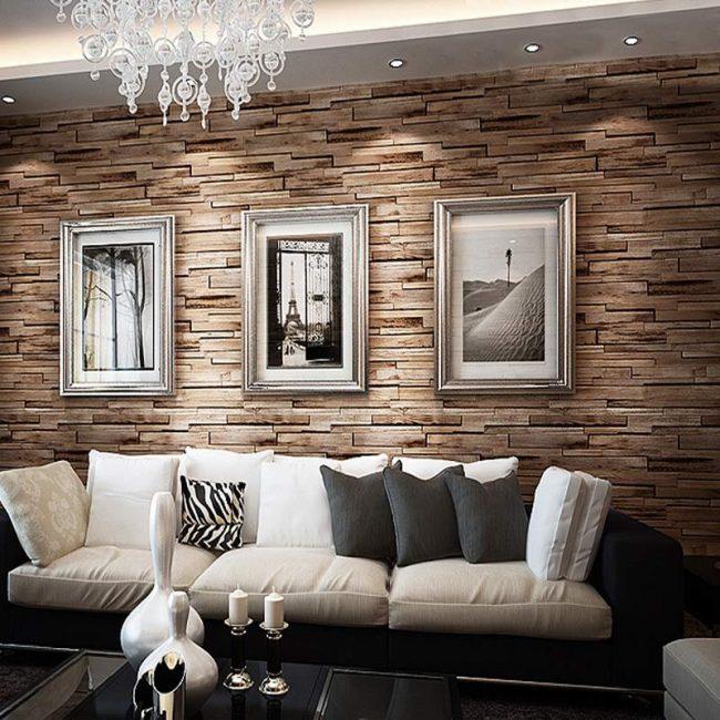 papel tapiz para paredes 40 ideas y fotos ecoraideas. Black Bedroom Furniture Sets. Home Design Ideas