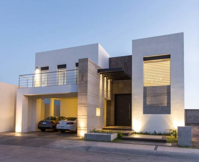 Fachadas de casas modernas 2017 de 70 fotos para inspirarse for Fachadas de casas interiores