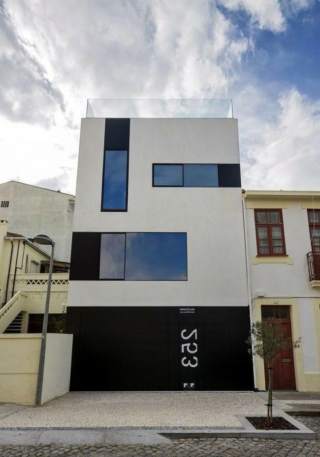 Fachadas de casas modernas 2018 de 70 fotos ecoraideas for Apartamentos modernos minimalistas