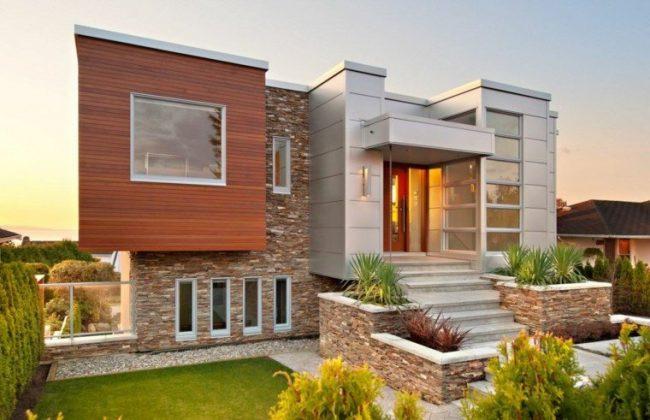Fachadas de casas modernas 2019 de 70 fotos for Fachadas rusticas de piedra y ladrillo