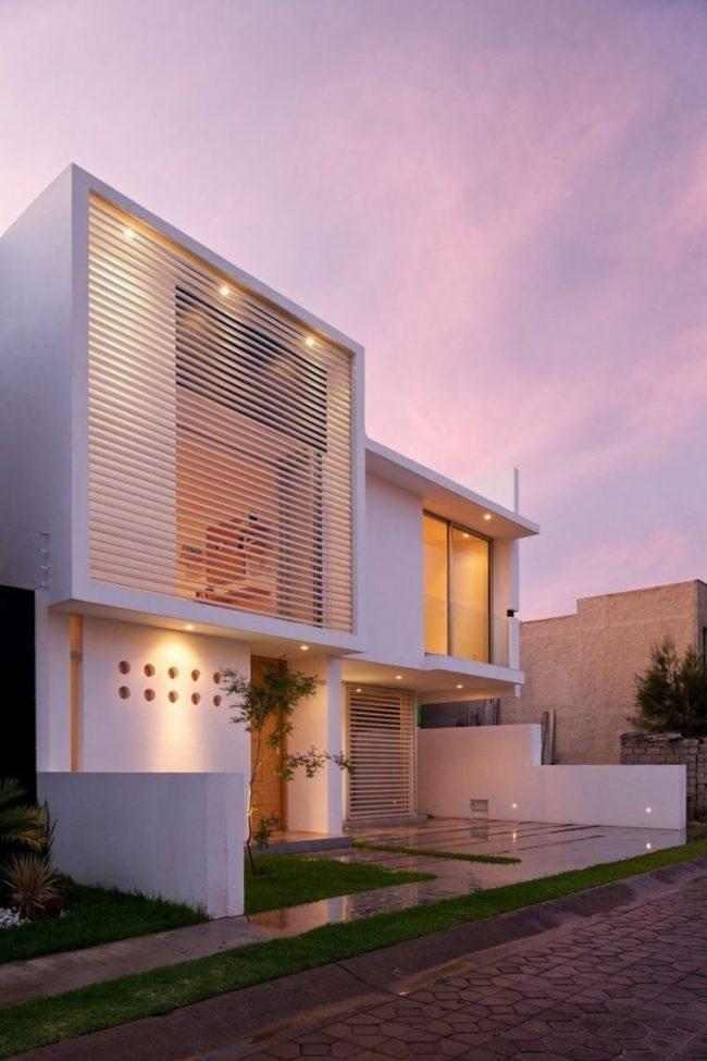 Fachadas de casas modernas 2019 de 70 fotos for Fachadas de casas interiores