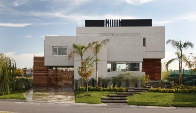 Fachadas de casas modernas 2018 de 70 fotos ecoraideas for Fachadas de viviendas modernas