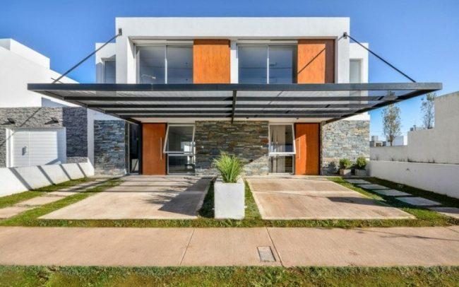 Fachadas de casas modernas 2019 de 70 fotos for Casas de madera minimalistas