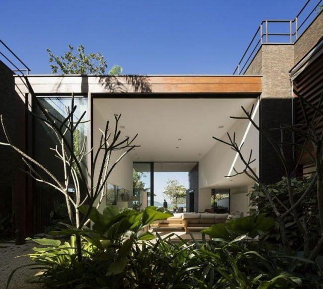 Fachadas de casas modernas 2018 de 70 fotos decora ideas - Fachadas de piedra y ladrillo ...