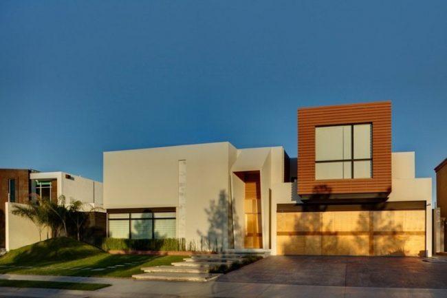 iluminacin de fachadas modernas - Fachadas Modernas De Casas