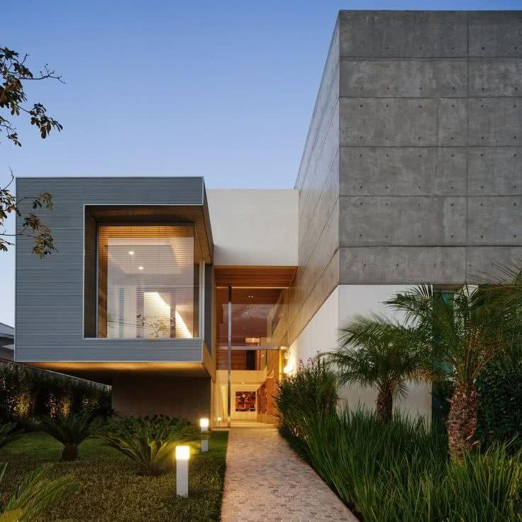 Fachadas de casas modernas 2018 de 70 fotos ecoraideas for Casa minimalista 2018