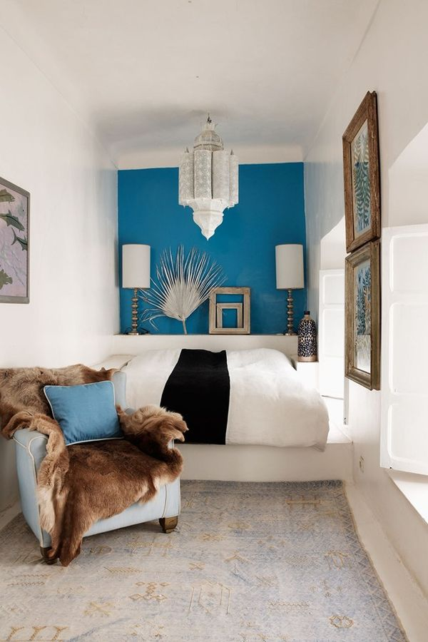por ejemplo pintar la pared opuesta a la entrada de un color ms oscuro que el resto de las paredes pintadas de blanco