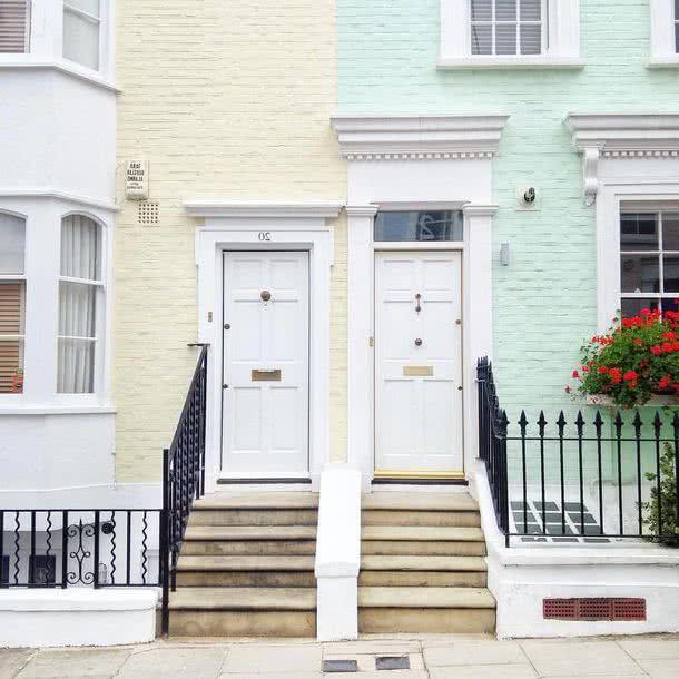 Colores para exteriores y fachadas 2018 40 fotos de for Colores elegantes para exteriores