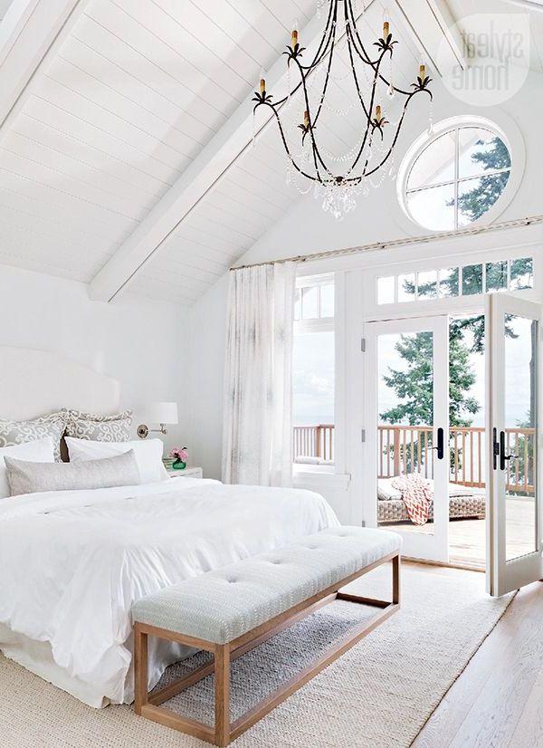 Colores para dormitorios 2019 200 fotos e ideas para - Dormitorios blancos ...