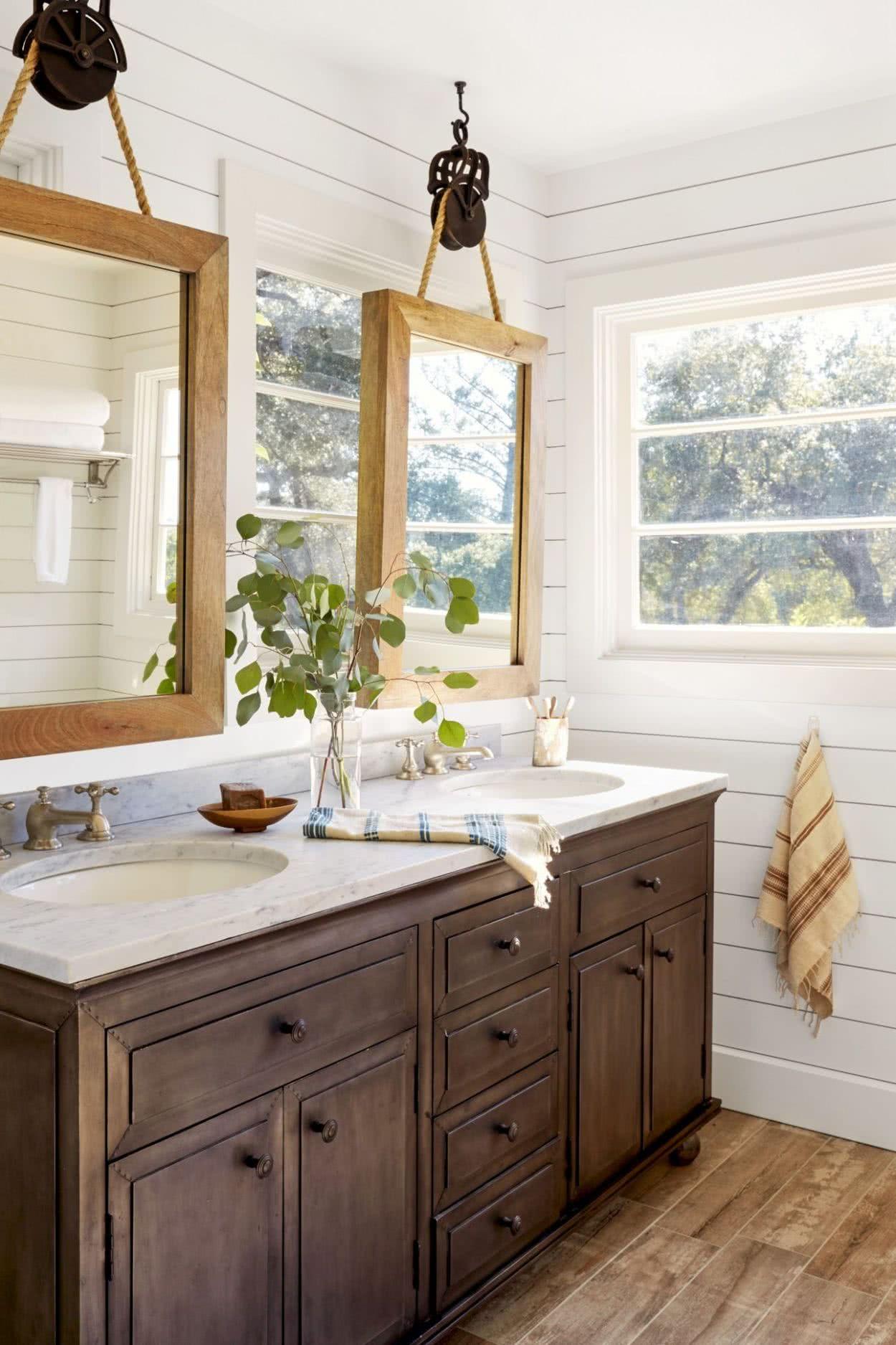 Master Bathroom Sink Shelves