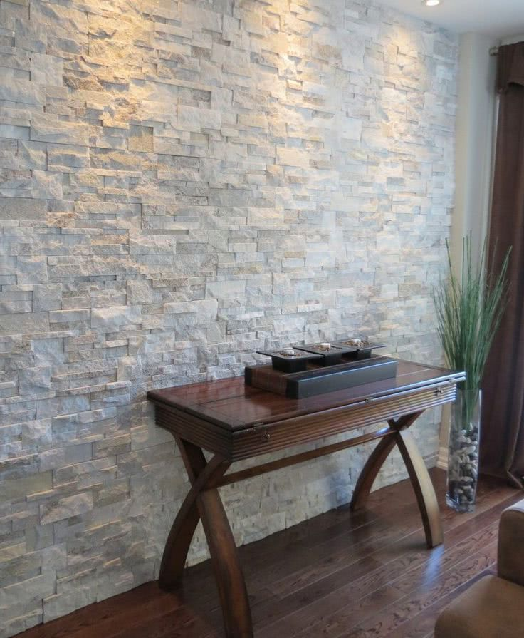 Outdoor White Brick Fireplace