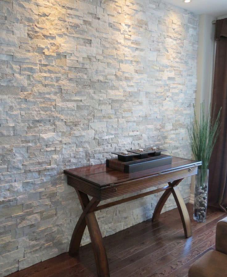 Grey Stucco Fireplace