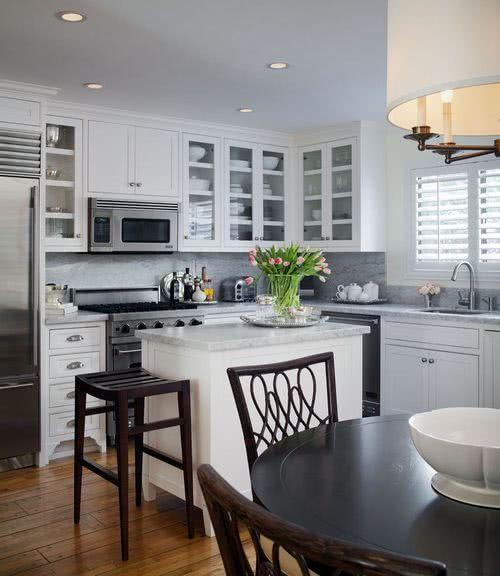 cocinas en l con ventana Cocinas Con Isla 2019 100 Imgenes Ideas Y Tendencias