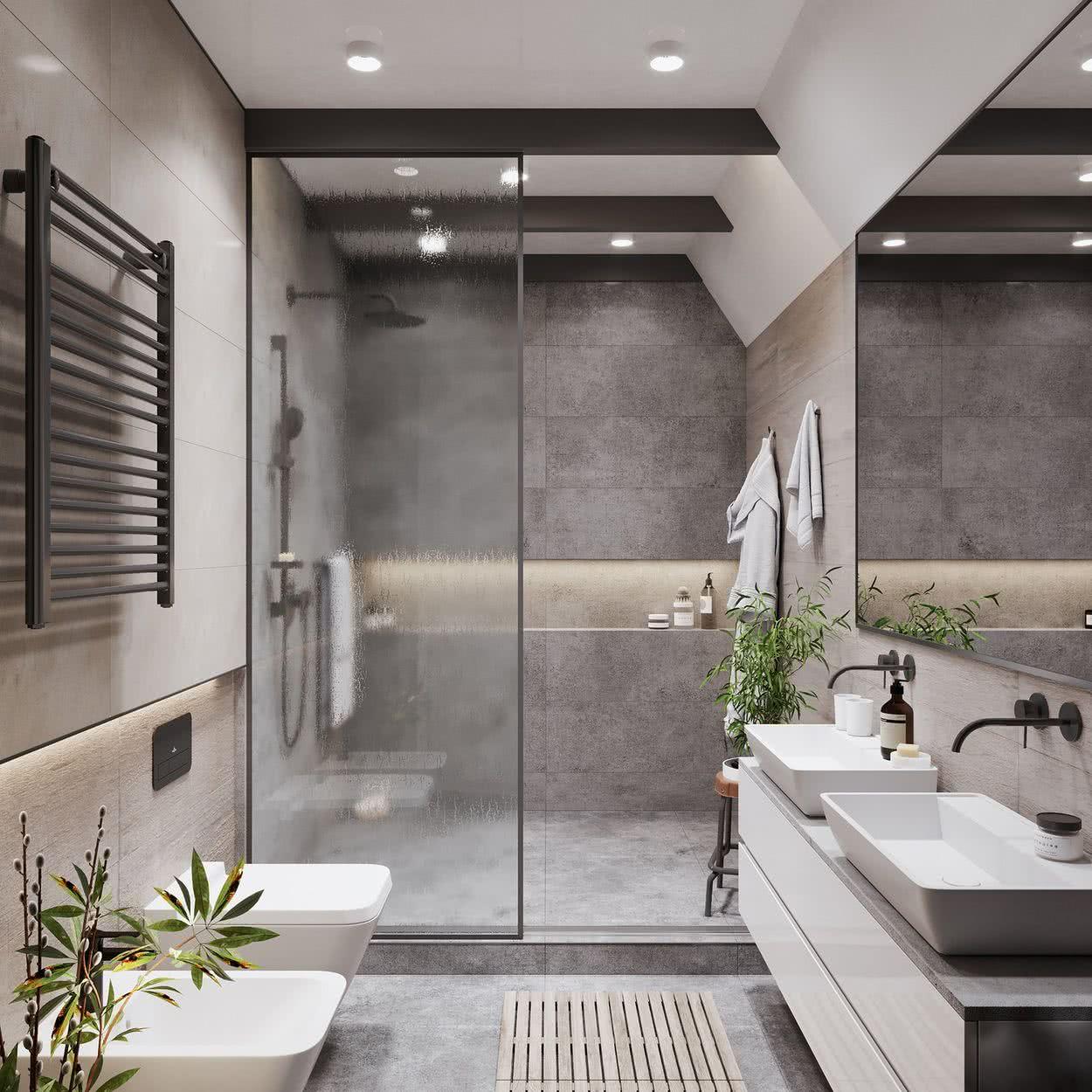 Ba os modernos 2020 2019 dise os modelos decoraci n for Modelos de cuartos de bano