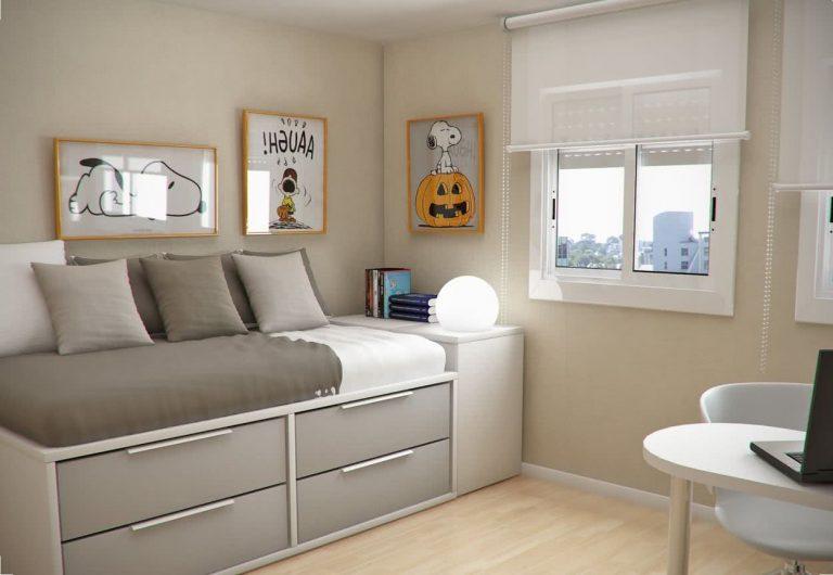 Camas para dormitorios pequeños